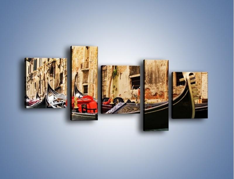 Obraz na płótnie – Wenecka gondola – pięcioczęściowy AM286W7