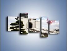 Obraz na płótnie – Azjatycka architektura – pięcioczęściowy AM299W7