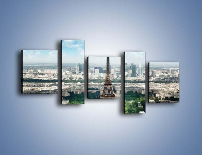 Obraz na płótnie – Chmury nad Wieżą Eiffla – pięcioczęściowy AM302W7