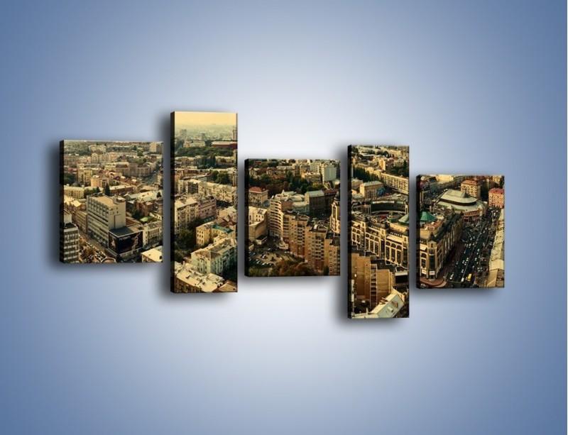 Obraz na płótnie – Panorama Kijowa – pięcioczęściowy AM326W7