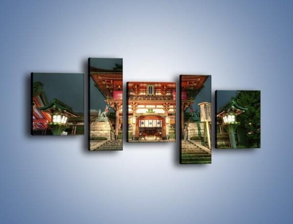 Obraz na płótnie – Świątynia w Kyoto – pięcioczęściowy AM327W7