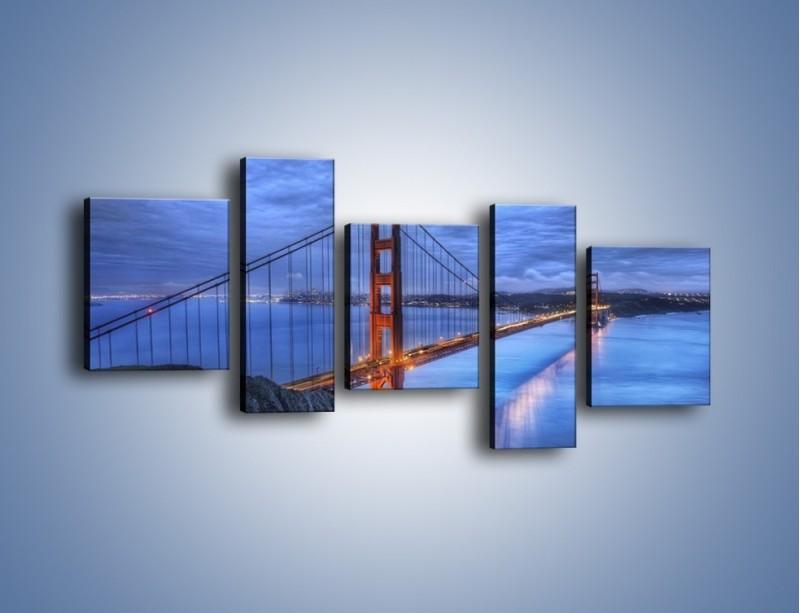 Obraz na płótnie – Most Golden Gate – pięcioczęściowy AM328W7