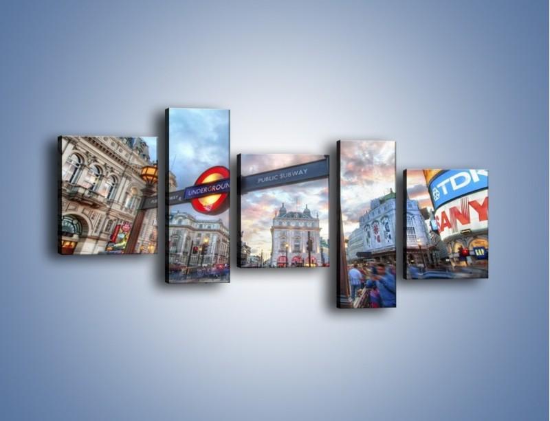 Obraz na płótnie – Wejście do londyńskiego metro – pięcioczęściowy AM334W7