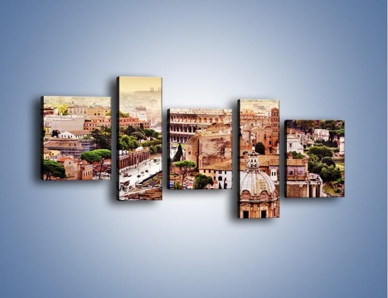 Obraz na płótnie – Panorama Rzymu – pięcioczęściowy AM338W7