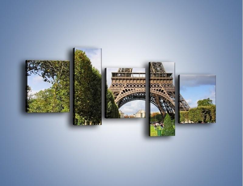 Obraz na płótnie – Wieża Eiffla – pięcioczęściowy AM340W7