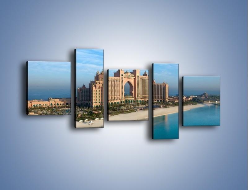 Obraz na płótnie – Atlantis Hotel w Dubaju – pięcioczęściowy AM341W7