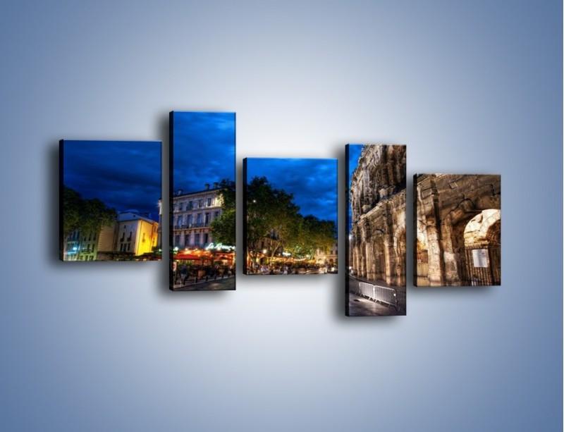 Obraz na płótnie – Nocne życie w Rzymie – pięcioczęściowy AM344W7
