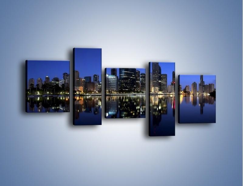 Obraz na płótnie – Brisbane w Australii nocą – pięcioczęściowy AM354W7