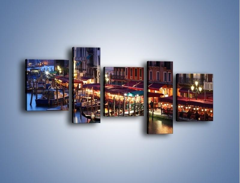 Obraz na płótnie – Wieczorowe życie w Wenecji – pięcioczęściowy AM358W7