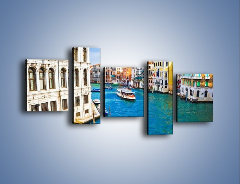 Obraz na płótnie – Kolorowy świat Wenecji – pięcioczęściowy AM362W7