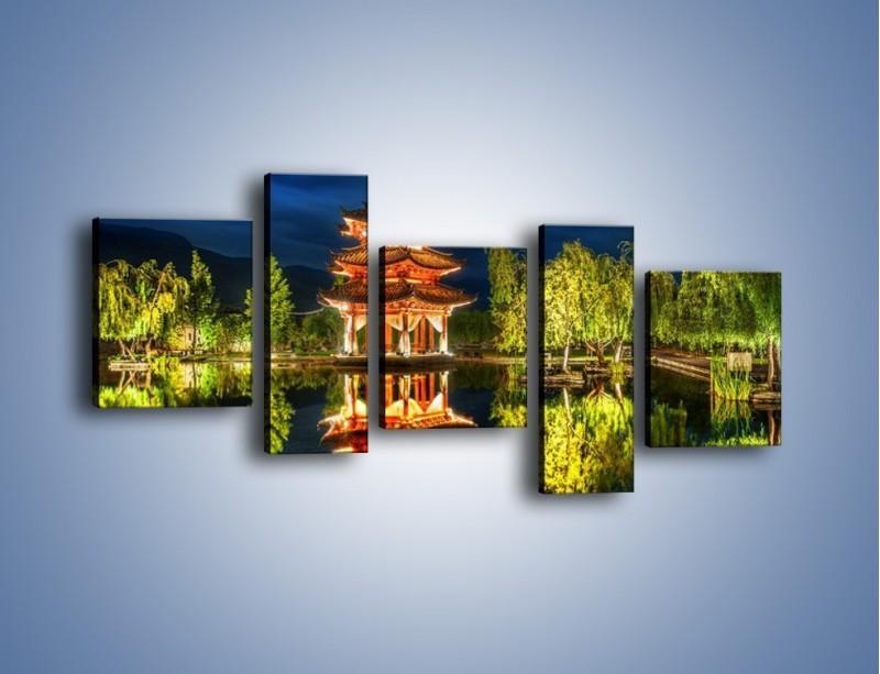 Obraz na płótnie – Urokliwy park w Chinach – pięcioczęściowy AM365W7