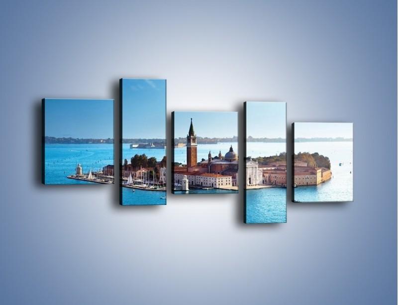 Obraz na płótnie – Wyspa San Giorgio Maggiore – pięcioczęściowy AM380W7