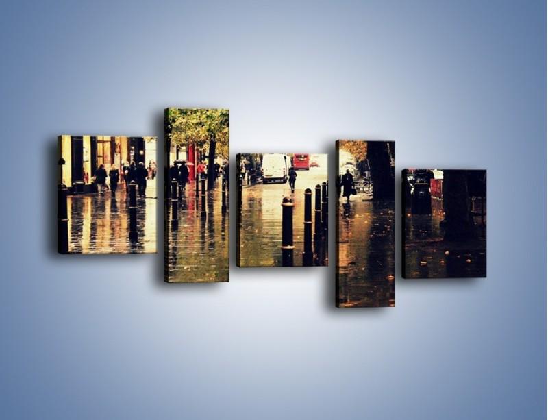 Obraz na płótnie – Deszczowa jesień w Moskwie – pięcioczęściowy AM383W7