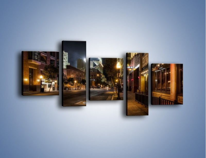 Obraz na płótnie – Ulica San Diego w Kaliforni – pięcioczęściowy AM390W7