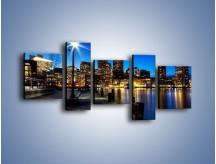 Obraz na płótnie – Boston wieczorową porą – pięcioczęściowy AM393W7