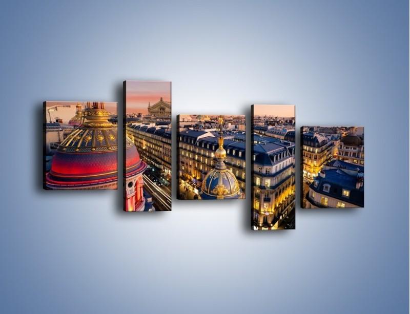 Obraz na płótnie – Paryska architektura – pięcioczęściowy AM402W7