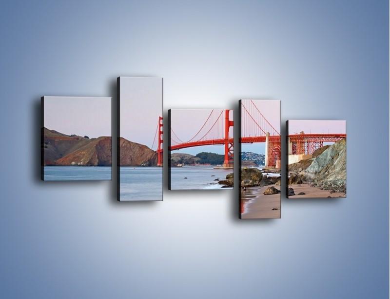 Obraz na płótnie – Most Golden Gate – pięcioczęściowy AM406W7