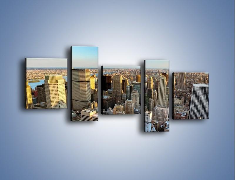 Obraz na płótnie – Manhattan w Nowym Yorku – pięcioczęściowy AM412W7