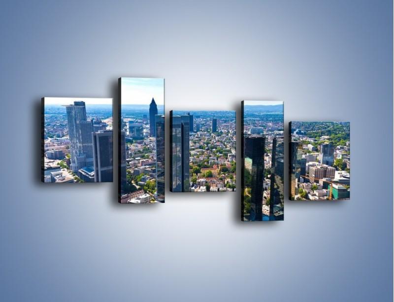 Obraz na płótnie – Panorama Frankfurtu – pięcioczęściowy AM414W7