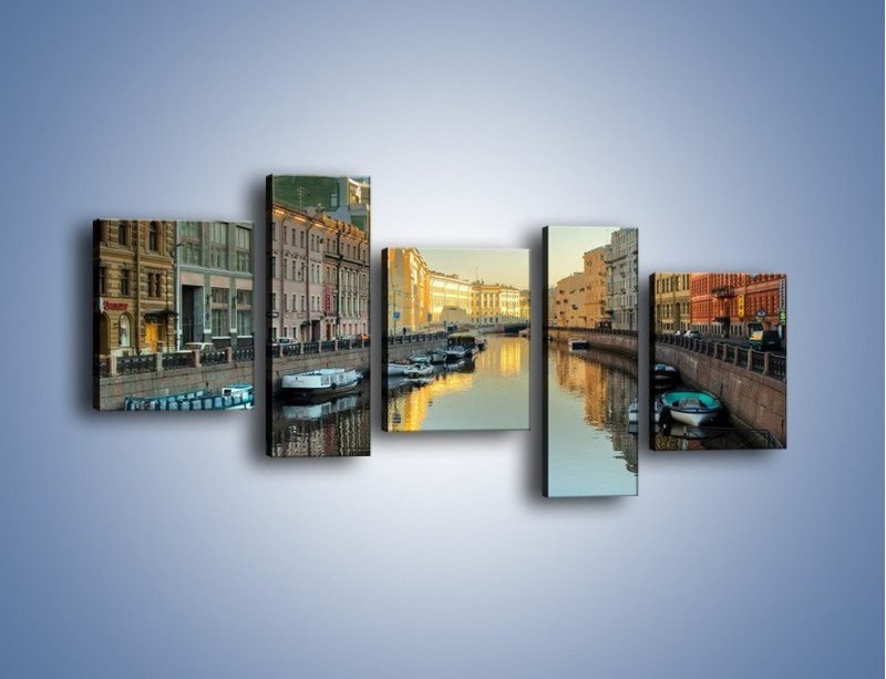 Obraz na płótnie – Kanał wodny w St. Petersburgu – pięcioczęściowy AM422W7