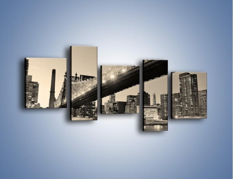 Obraz na płótnie – Most Qeensboro w Nowym Yorku – pięcioczęściowy AM438W7