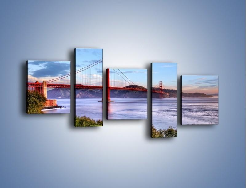 Obraz na płótnie – Most Golden Gate w San Francisco – pięcioczęściowy AM444W7