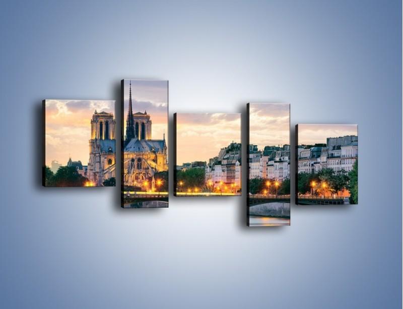 Obraz na płótnie – Katedra Notre Dame – pięcioczęściowy AM454W7