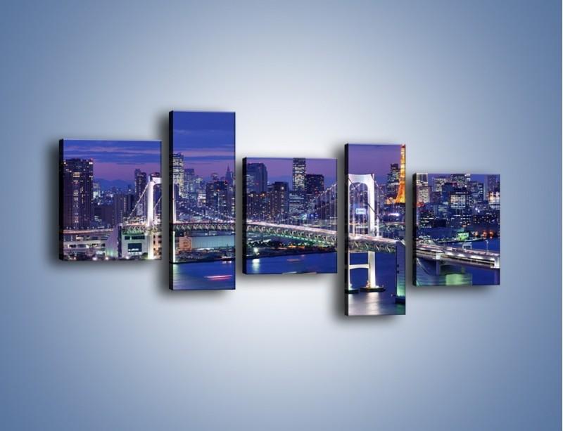 Obraz na płótnie – Tęczowy Most w Tokyo – pięcioczęściowy AM460W7