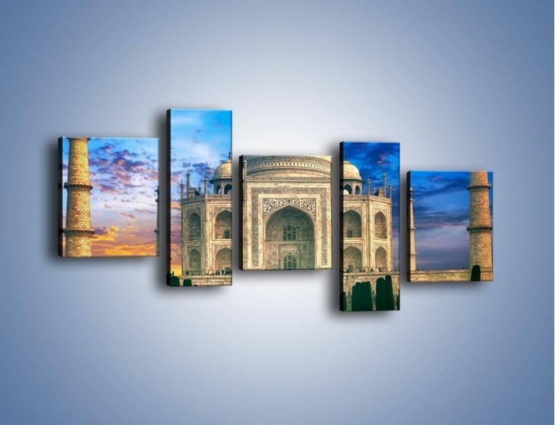 Obraz na płótnie – Tadź Mahal pod niebieskim niebem – pięcioczęściowy AM466W7