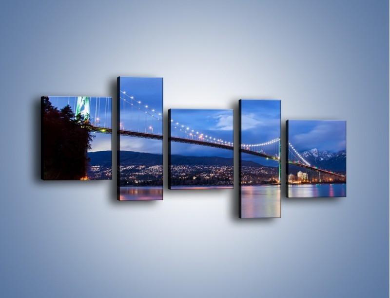 Obraz na płótnie – Most Lions Gate w Vancouver – pięcioczęściowy AM471W7