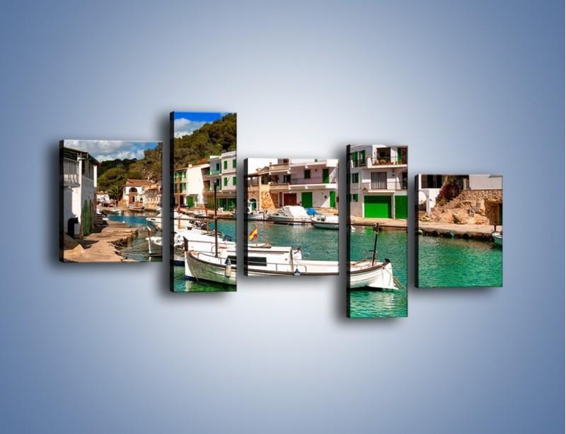 Obraz na płótnie – Domki nad wodą na Majorce – pięcioczęściowy AM484W7