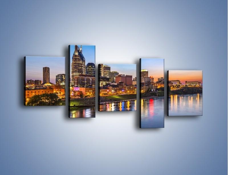 Obraz na płótnie – Nashville nad rzeką Cumberland – pięcioczęściowy AM491W7
