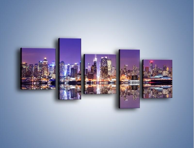 Obraz na płótnie – Panorama Midtown Manhattan – pięcioczęściowy AM492W7