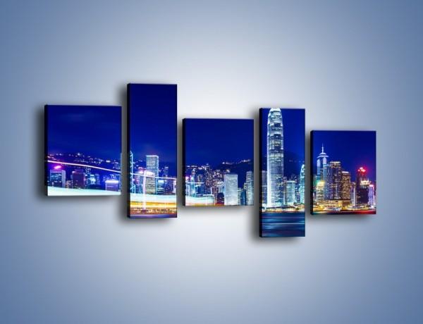 Obraz na płótnie – Panorama Hong Kongu – pięcioczęściowy AM499W7