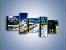 Obraz na płótnie – Autostrada prowadząca do Hong Kongu – pięcioczęściowy AM504W7
