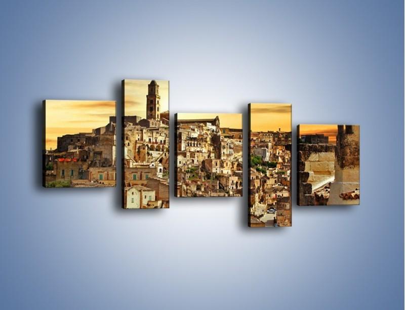 Obraz na płótnie – Matera – miasto wykute w skale – pięcioczęściowy AM517W7