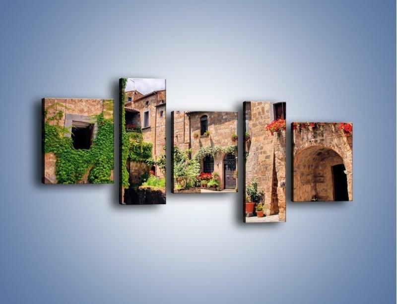 Obraz na płótnie – Romantyczna uliczka we Włoszech – pięcioczęściowy AM533W7