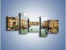 Obraz na płótnie – Cieśnina Canal Grande w Wenecji – pięcioczęściowy AM559W7