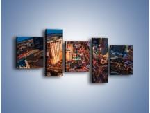 Obraz na płótnie – Centrum Las Vegas – pięcioczęściowy AM588W7