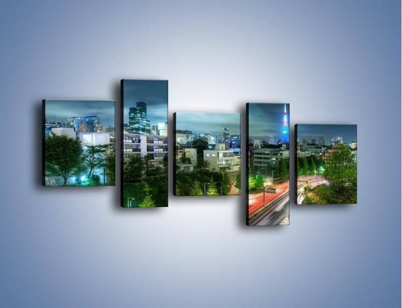Obraz na płótnie – Miasto Roppongi w Japonii – pięcioczęściowy AM593W7