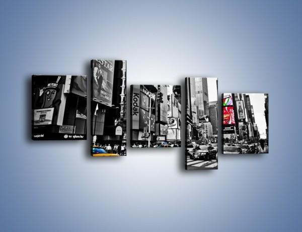 Obraz na płótnie – Times Square w godzinach szczytu – pięcioczęściowy AM598W7