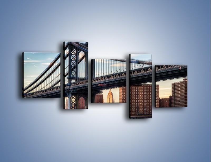 Obraz na płótnie – Manhattan Bridge – pięcioczęściowy AM607W7