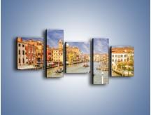 Obraz na płótnie – Canal Grande w Wenecji o poranku – pięcioczęściowy AM617W7