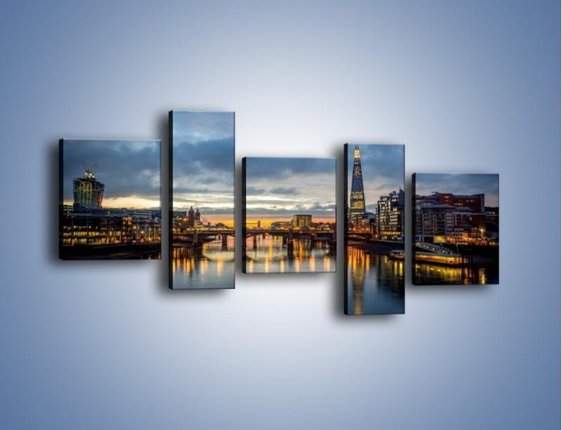 Obraz na płótnie – Millennium Bridge w Londynie – pięcioczęściowy AM651W7