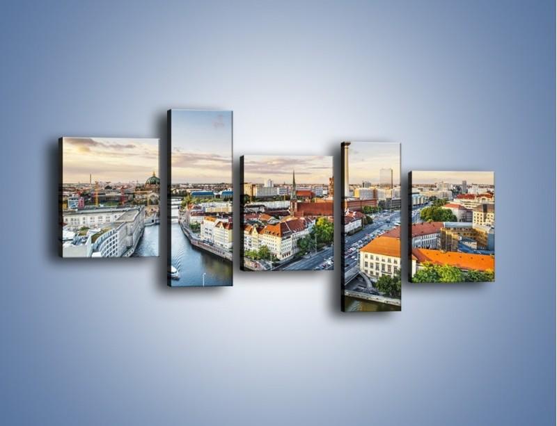 Obraz na płótnie – Panorama Berlina – pięcioczęściowy AM673W7