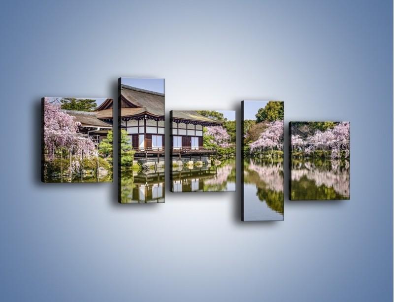 Obraz na płótnie – Świątynia Heian Shrine w Kyoto – pięcioczęściowy AM677W7