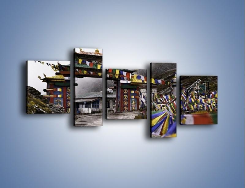 Obraz na płótnie – Brama do miasta Tawang w Tybecie – pięcioczęściowy AM689W7