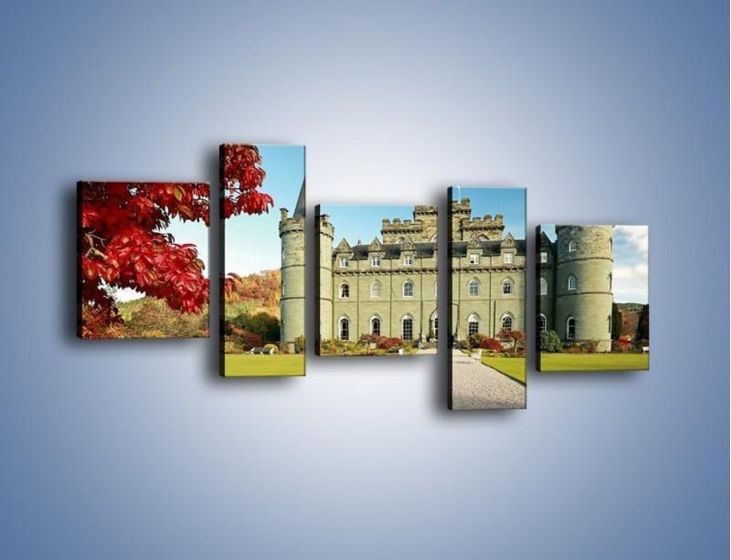 Obraz na płótnie – Zamek Inveraray w Szkocji – pięcioczęściowy AM691W7