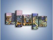 Obraz na płótnie – Centrum Miami – pięcioczęściowy AM702W7