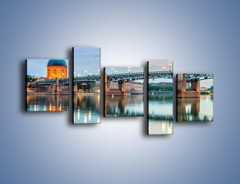 Obraz na płótnie – Most Saint-Pierre w Tuluzie – pięcioczęściowy AM721W7